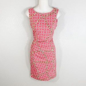 J. McLaughlin Sage sleeveless pink chain dress XS